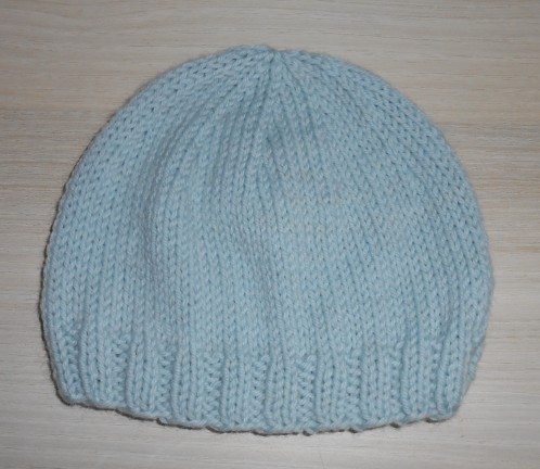 bdaefc3fe5c7 Tricot facile bonnet naissance - Idées de tricot gratuit