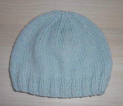 Bonnet tricot facile fillette