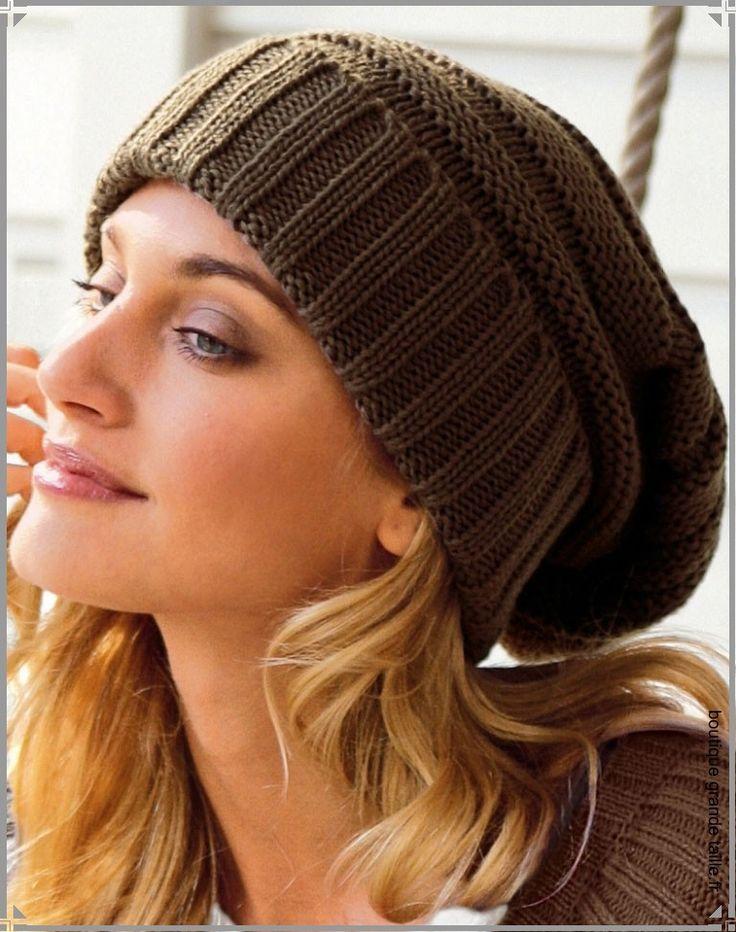 Patron tricot bonnet oversize homme - Idées de tricot gratuit