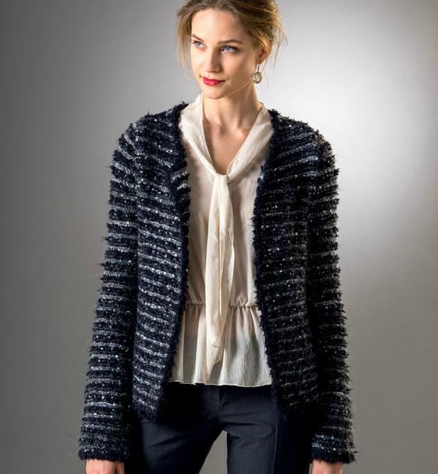 Gilet tricot noir femme