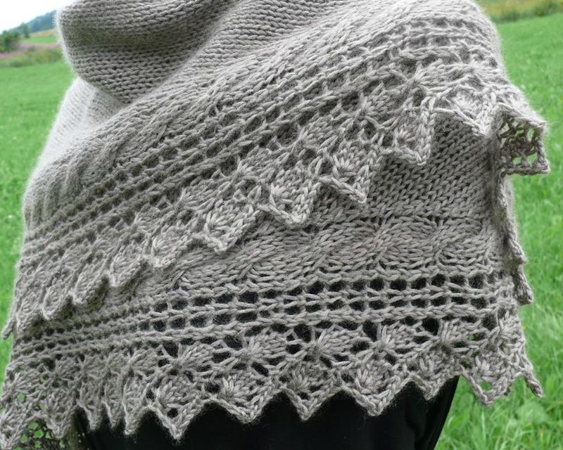 Modèle châle tricot femme gratuit
