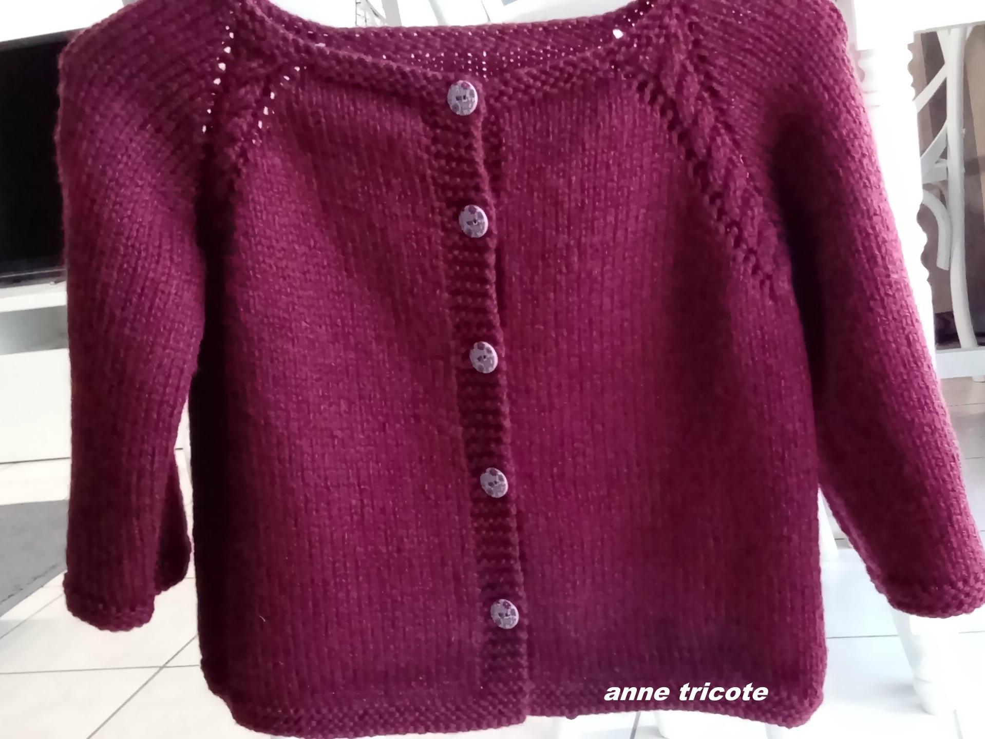 Gilet tricot 6 ans