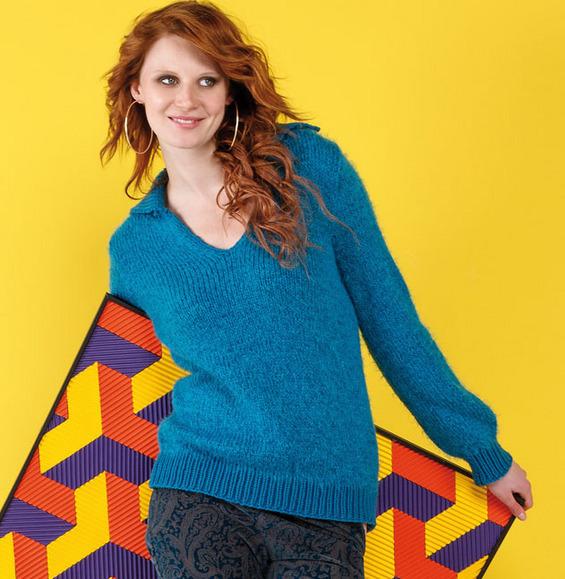Explication tricot pull femme col v - Idées de tricot gratuit acbd81f965e