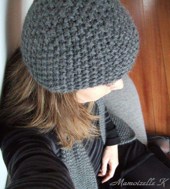 Tuto tricot bonnet femme point mousse - Idées de tricot gratuit 6232b2233b9