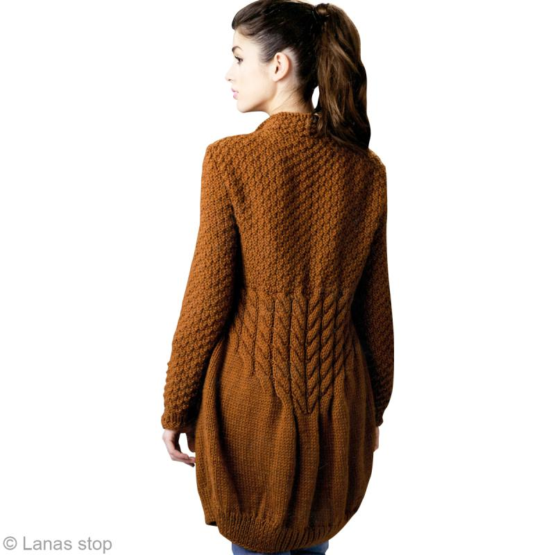 Modele manteau tricot femme gratuit