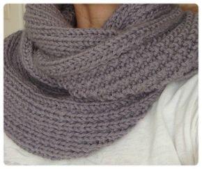 Tricoter un snood point de sable - Idées de tricot gratuit