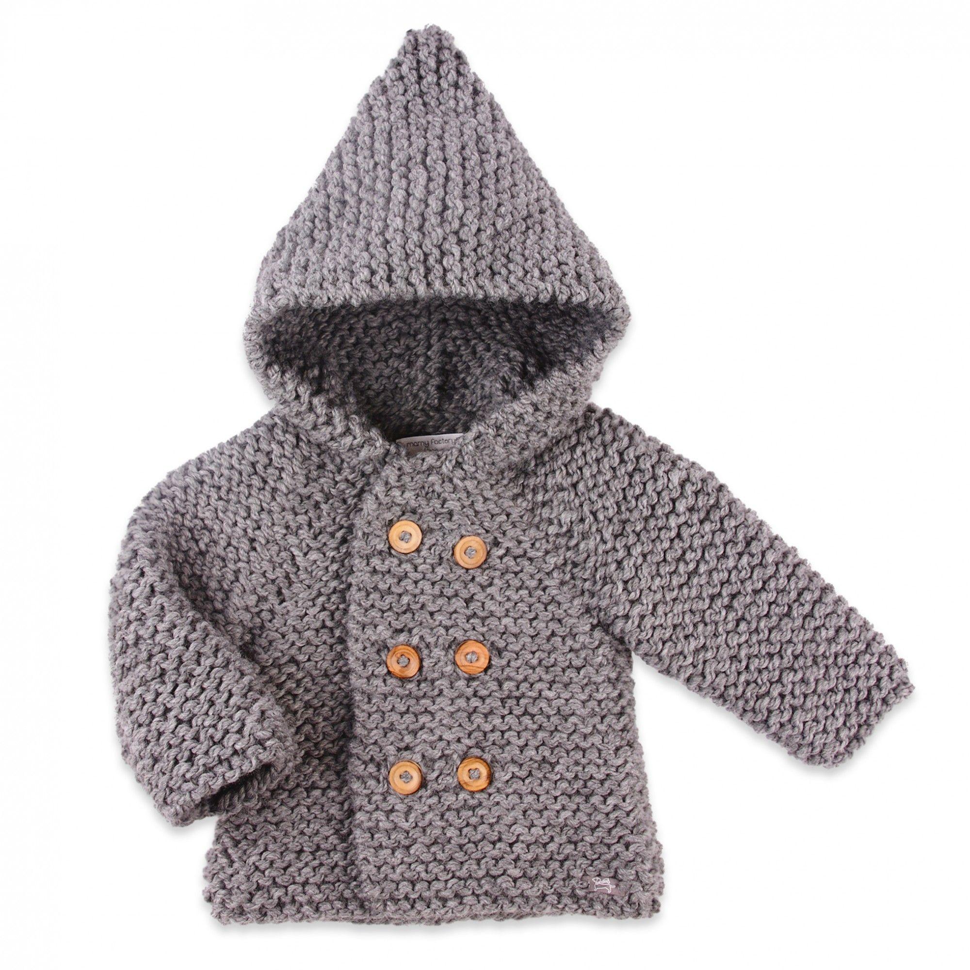 Gilet capuche tricot
