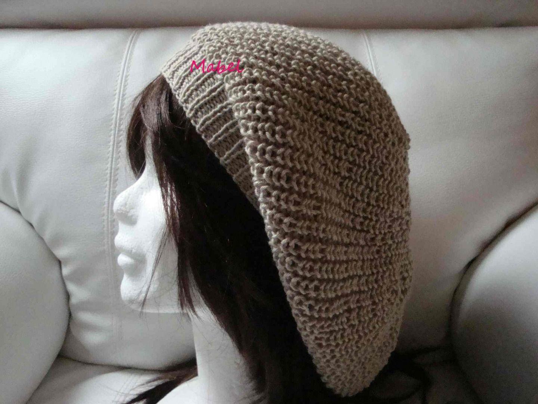 Tricoter un bonnet tombant