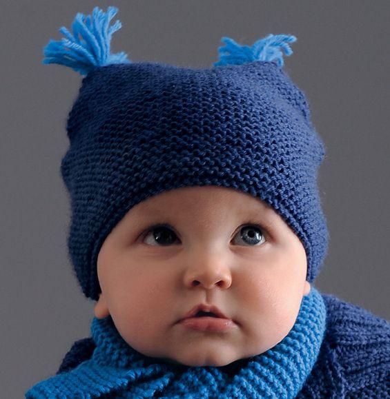 Bonnet en tricot bebe