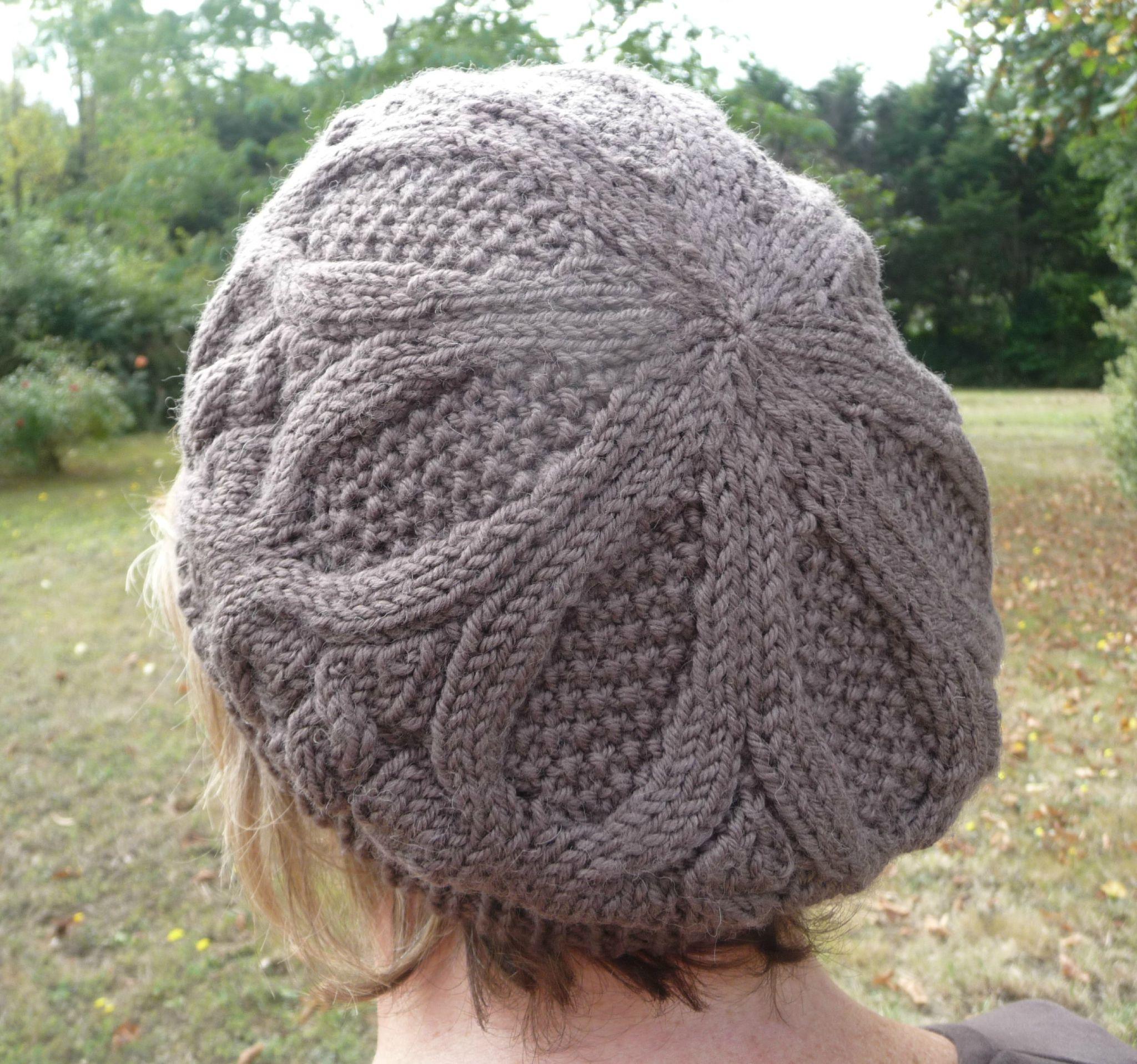 Tricot bonnet beret