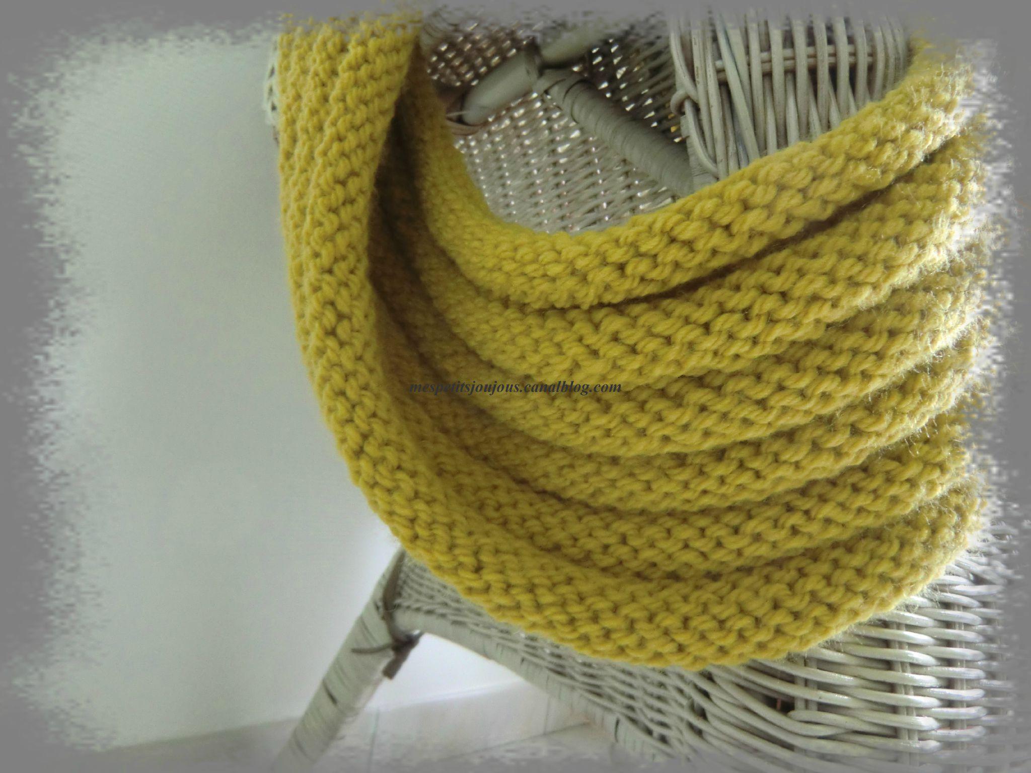 Tricoter sur une aiguille circulaire