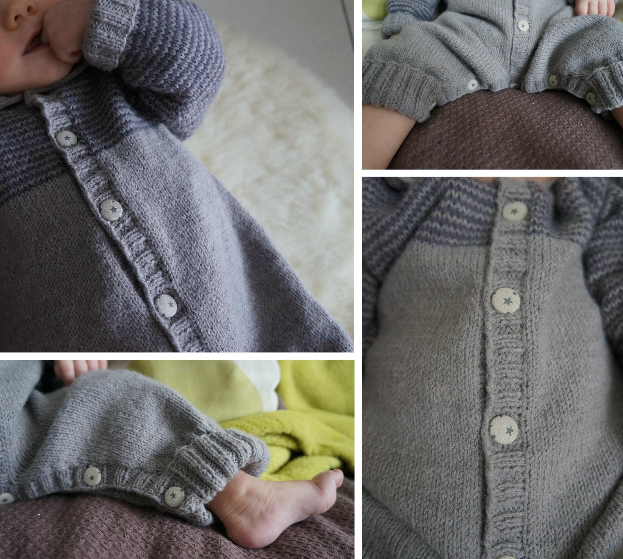 Tricot combinaison bébé