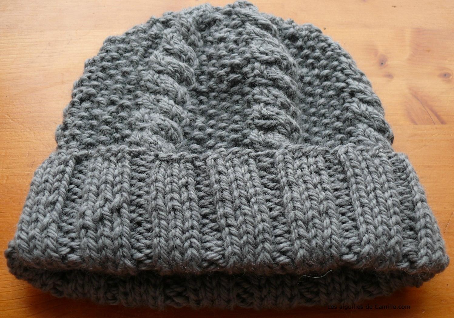538bb54b3356 Tricoter un bonnet point de riz - Idées de tricot gratuit
