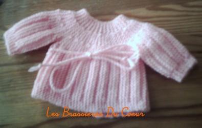 Tricoter brassiere bebe debutant