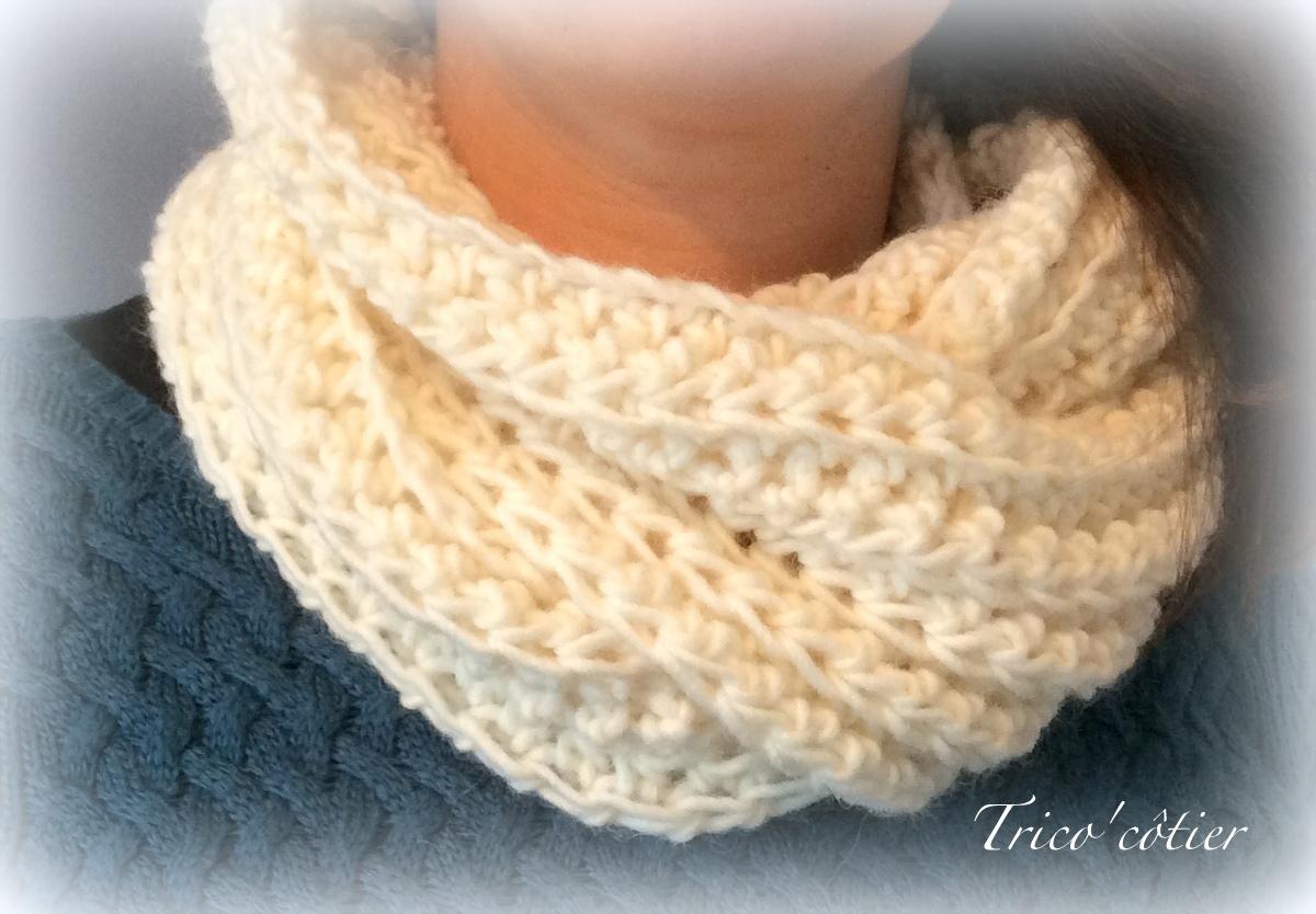 d334feb86a8c Tricoter un snood avec de la grosse laine - Idées de tricot gratuit