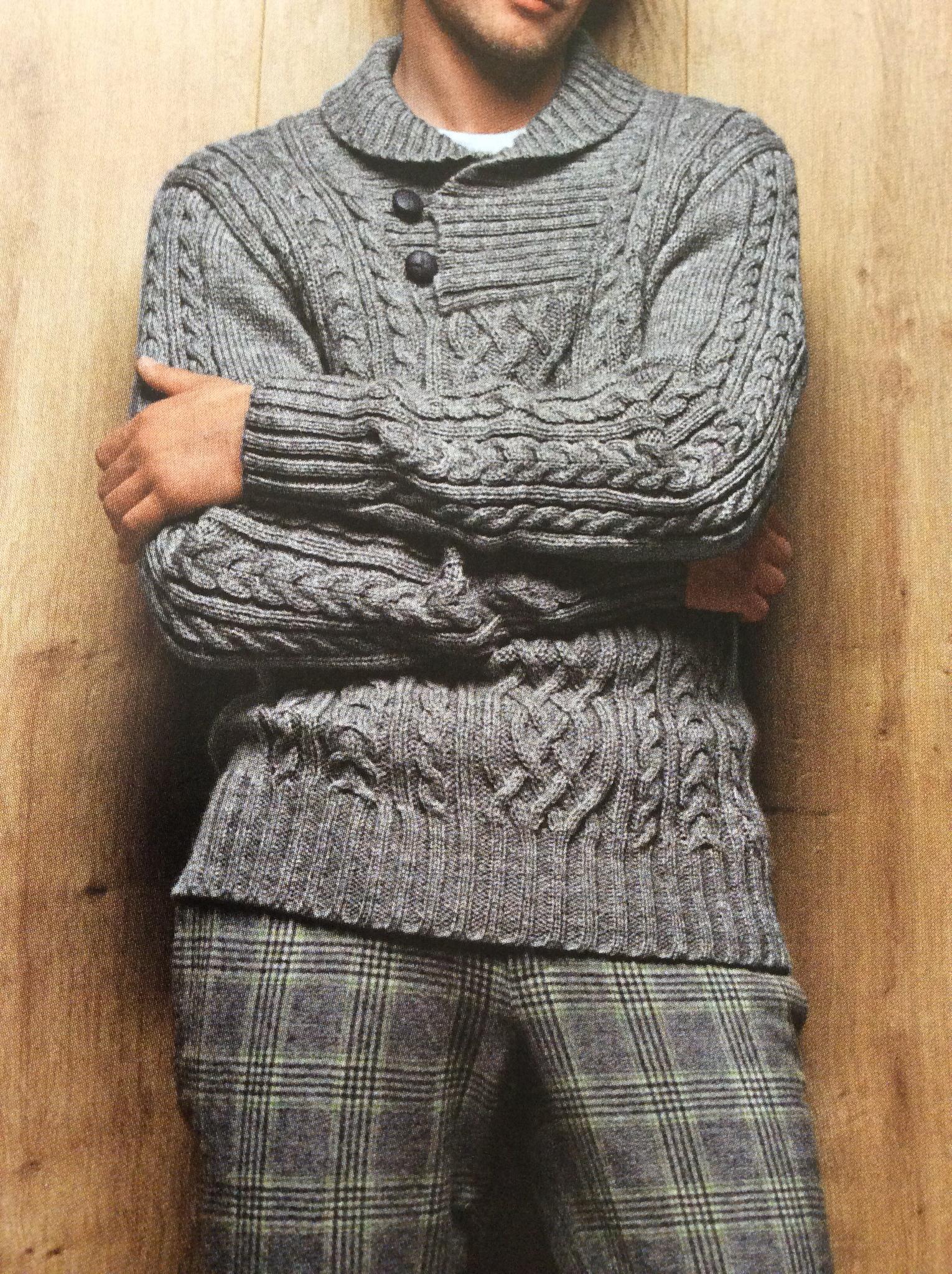 Modele tricot homme aiguille 5