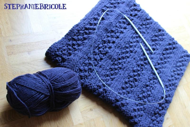 Tricoter un snood laine fine