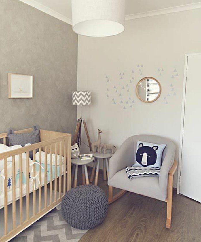 Chambre bébé gris