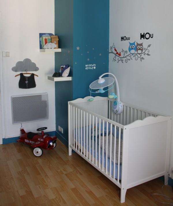 Deco chambre bebe garcon gris et bleu - Idées de tricot gratuit