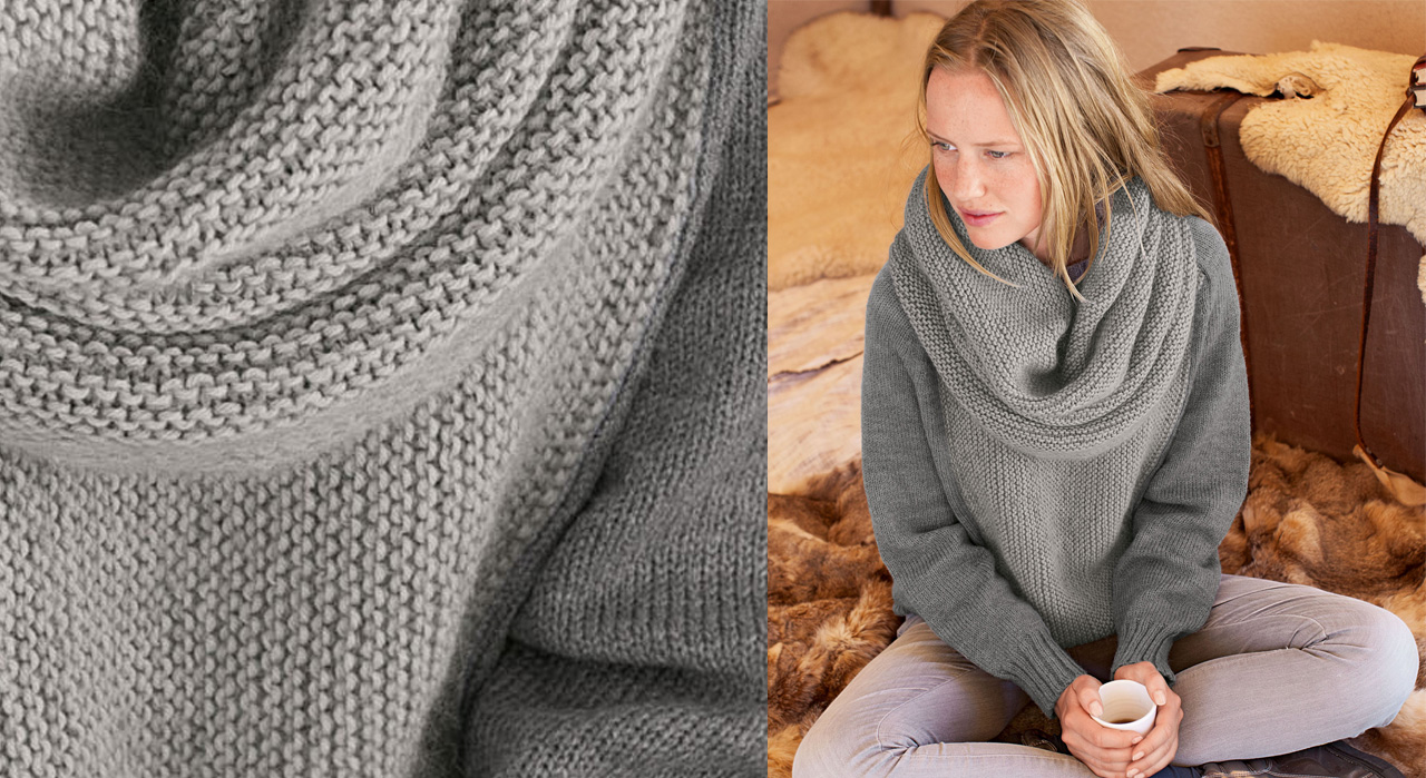 Tricot point mousse echarpe - Idées de tricot gratuit ebcaeb50bc7