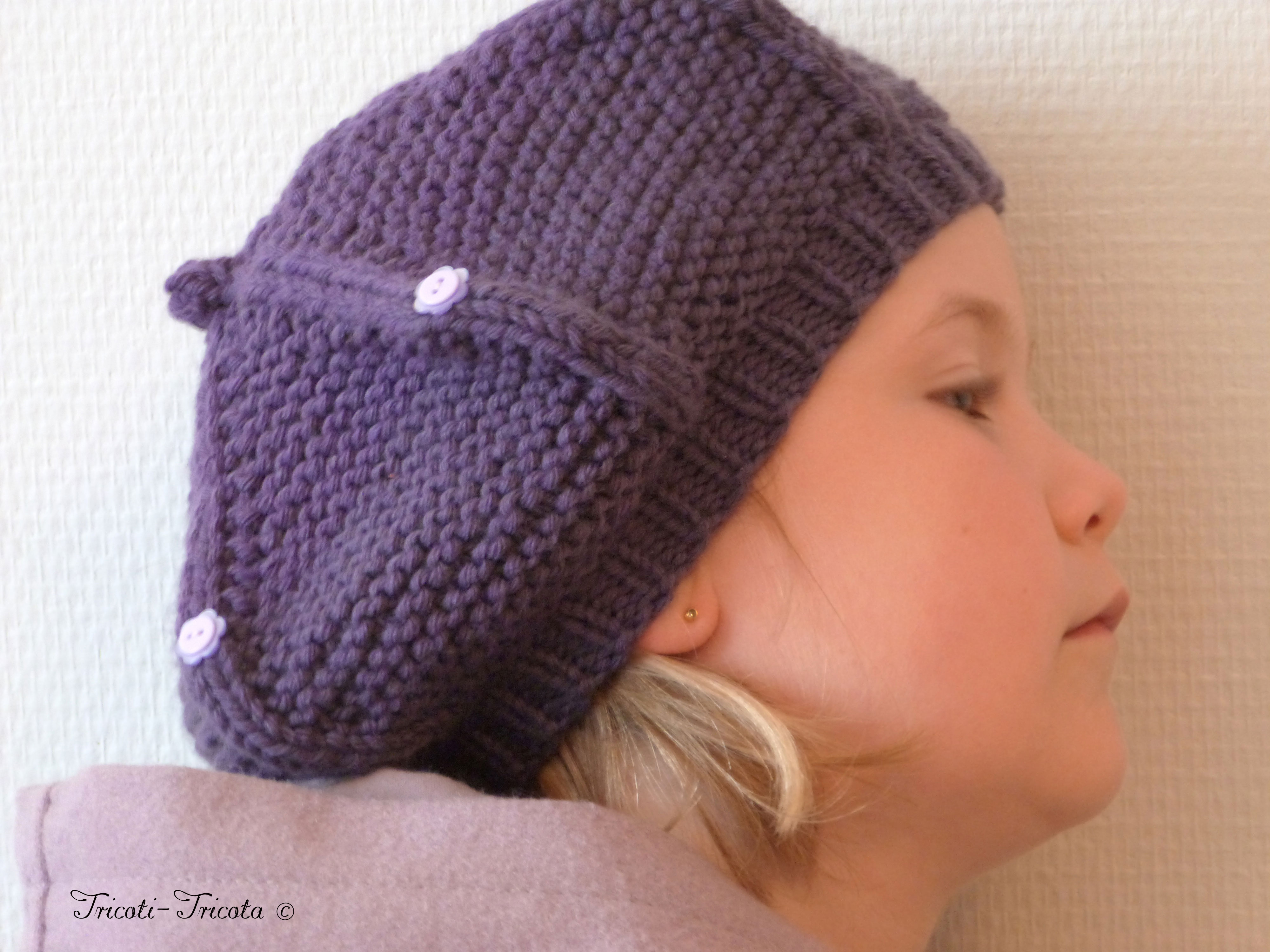 39822d5b21a Tricoter un bonnet pour fille de 6 ans - Idées de tricot gratuit