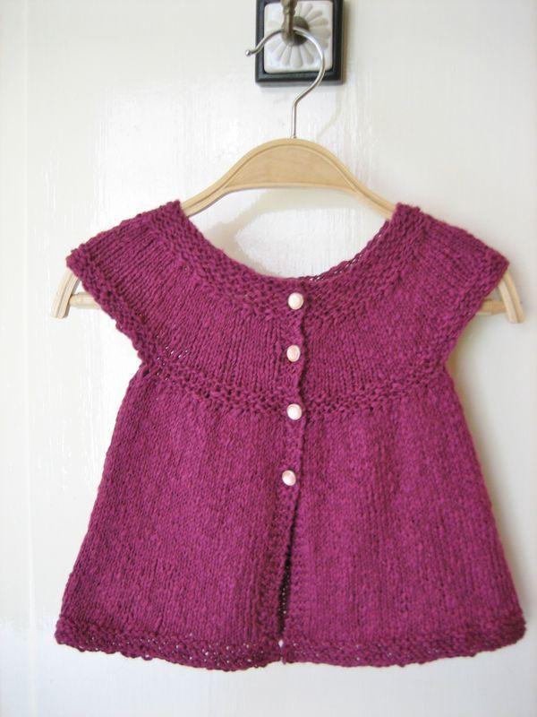 Gilet tricot fille 6 mois