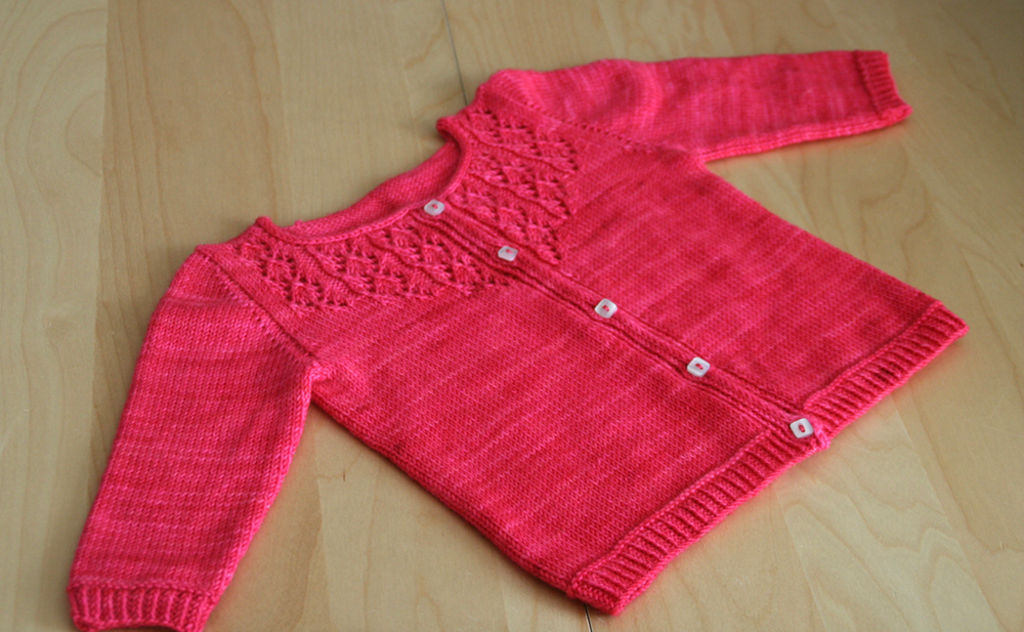 Gilet tricot fille 1 an