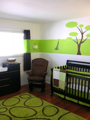 Deco chambre bebe garcon vert et marron - Idées de tricot gratuit