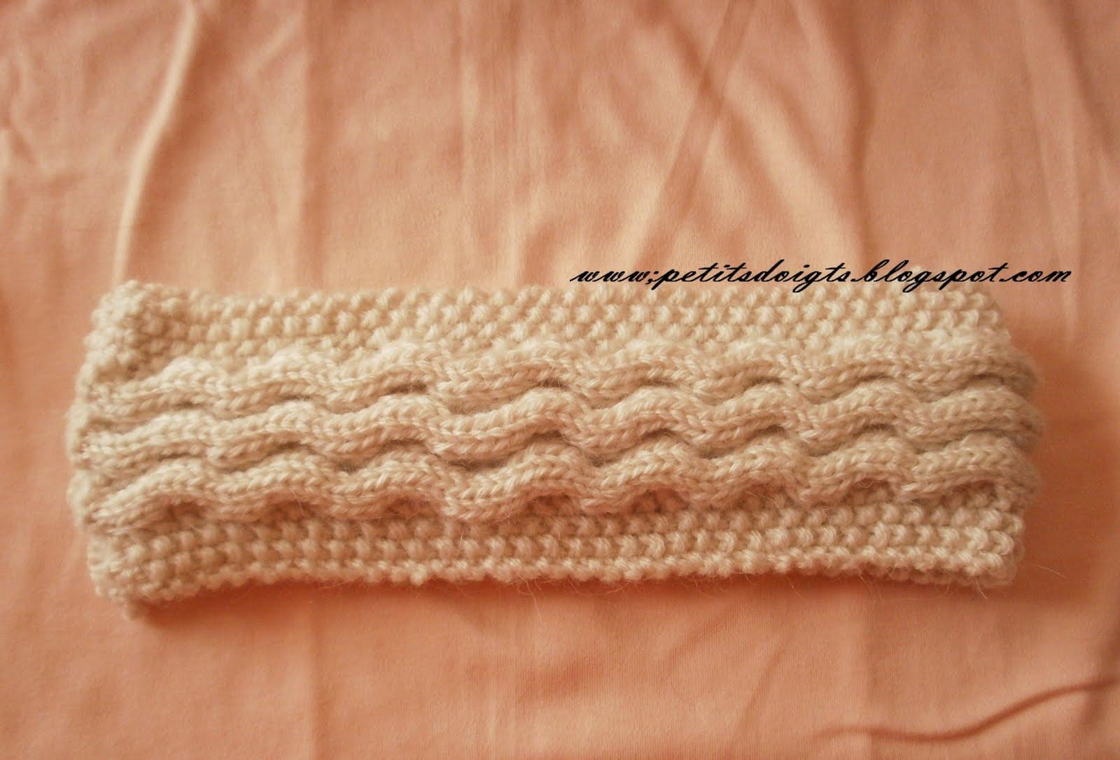Bandeau tricot layette