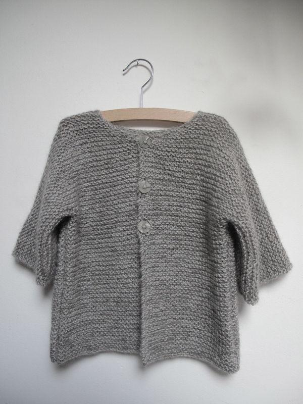 5f2dec639d14b Gilet à tricoter pour fille - Idées de tricot gratuit