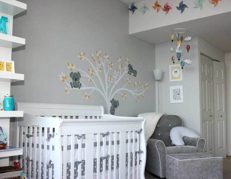 Chambre bébé gris et blanc - Idées de tricot gratuit