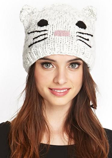 Tricoter un bonnet avec oreilles de chat - Idées de tricot gratuit b5c888c0d59