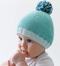 Tricot bonnet nouveau né facile