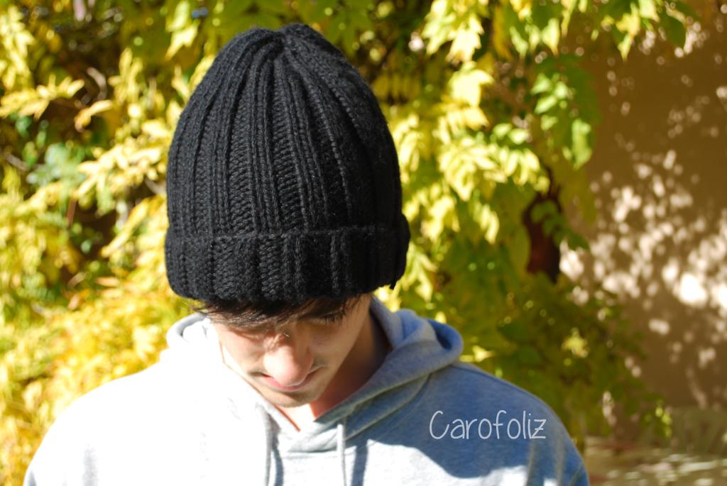 Tricoter bonnet pour homme facile