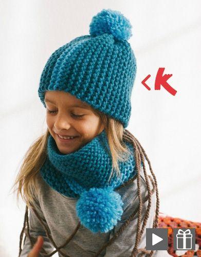 Kit pour tricoter un snood