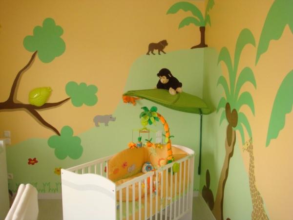 Chambre bébé thème savane