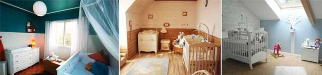 Chambre bébé avec lambris