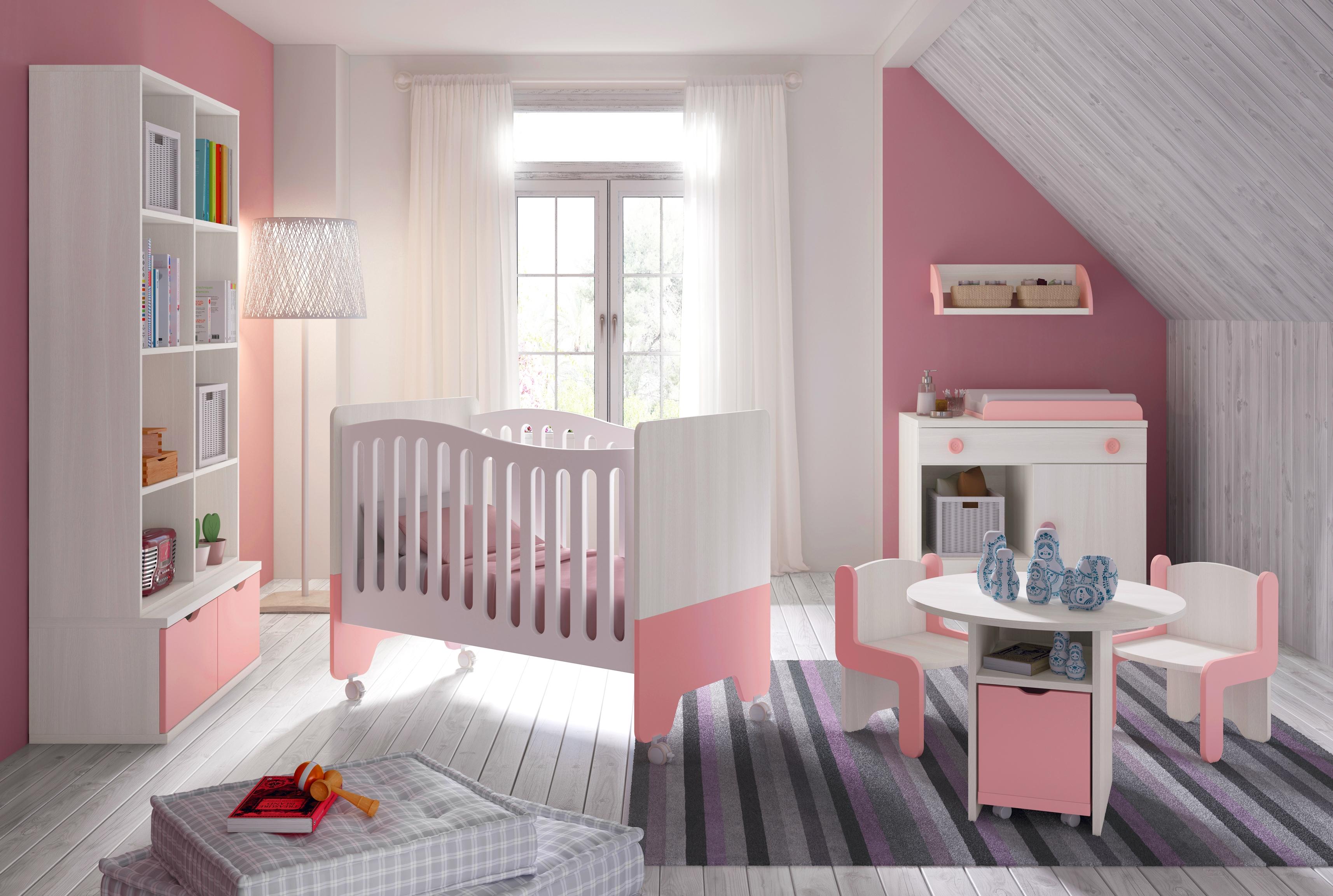 Chambre bébé fille rose - Idées de tricot gratuit