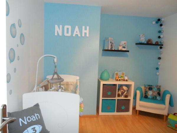 Chambre bébé garçon bleu et taupe - Idées de tricot gratuit