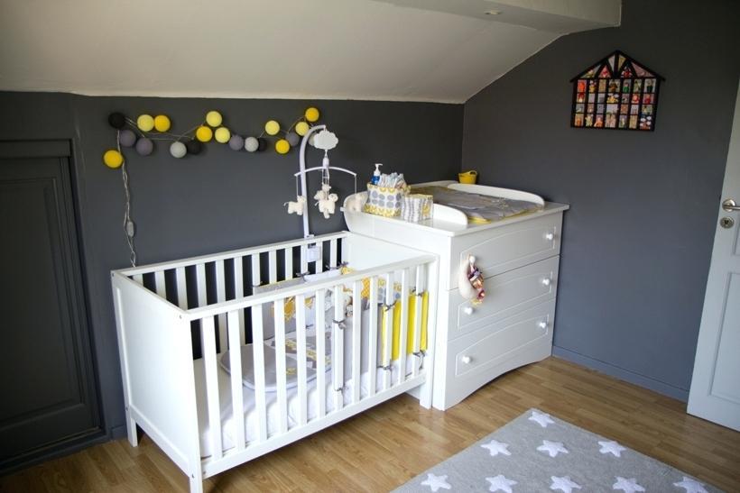 Chambre bebe gris bleu jaune - Idées de tricot gratuit
