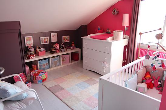 Chambre bébé fille couleur prune - Idées de tricot gratuit