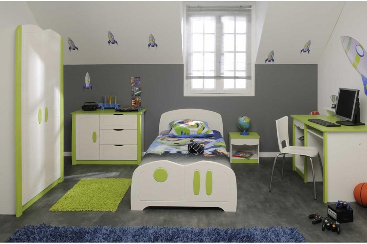 Captivant Chambre Bébé Garçon Vert Et Gris