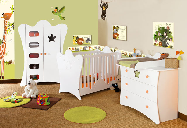Chambre bébé vert amande - Idées de tricot gratuit