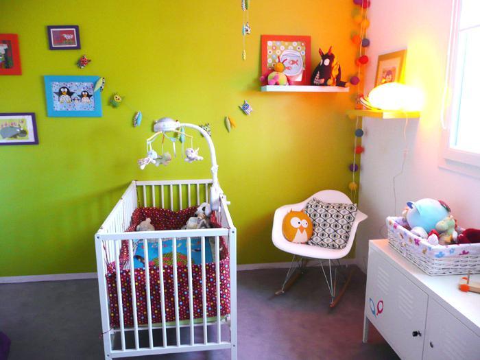 Chambre bébé fille vert anis - Idées de tricot gratuit
