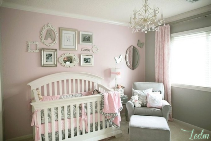 Chambre Bébé Fille Beige Et Rose