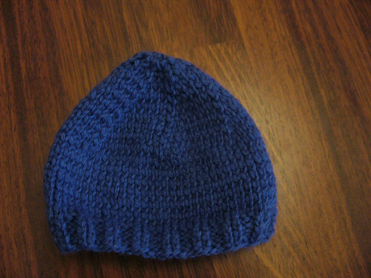 21e86c4cb83 Tuto tricot bonnet bébé facile point mousse - Idées de tricot gratuit