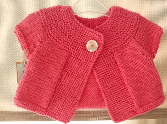 Gilet au tricot pour bebe