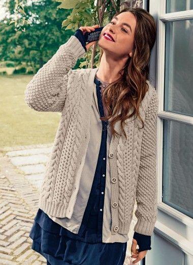 Modele tricot gilet femme classique