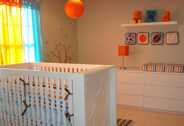 Chambre bébé orange - Idées de tricot gratuit
