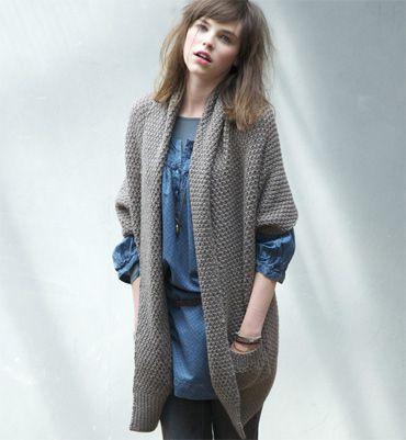 Gilet tricote a la main